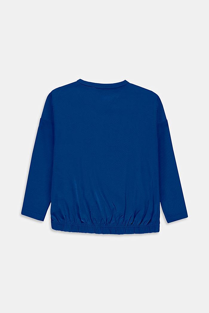 T-shirt court à manches longues et imprimé, en coton, INK, detail image number 1