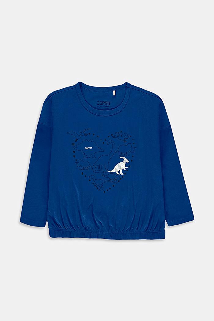 T-shirt court à manches longues et imprimé, en coton, INK, detail image number 0