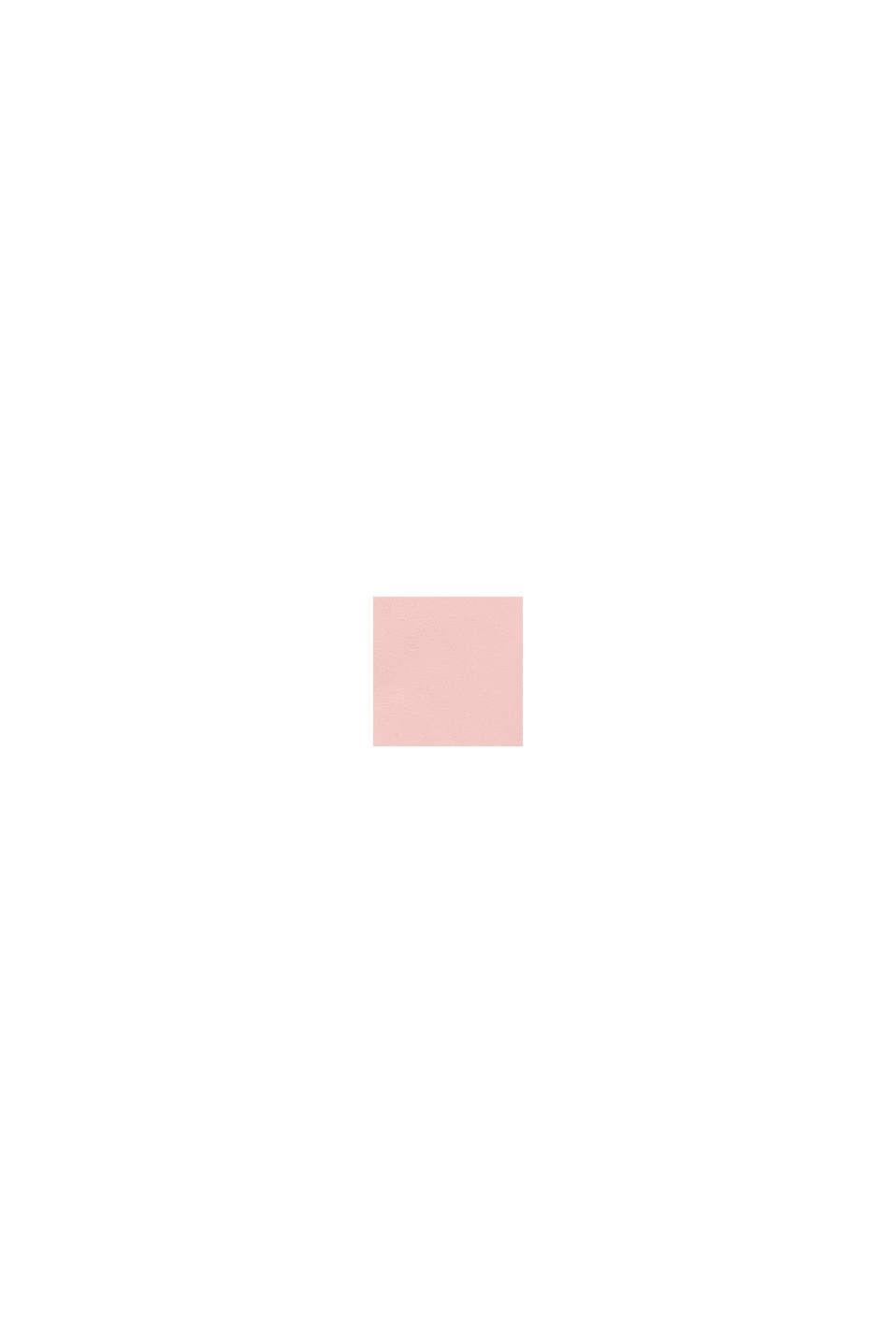 Långärmad topp med vändbara paljetter i bomull , PASTEL PINK, swatch