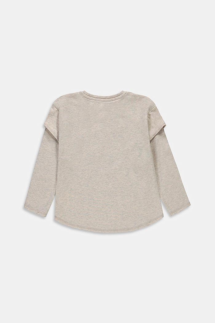 Långärmad T-shirt med lager på lager-effekt och tryck