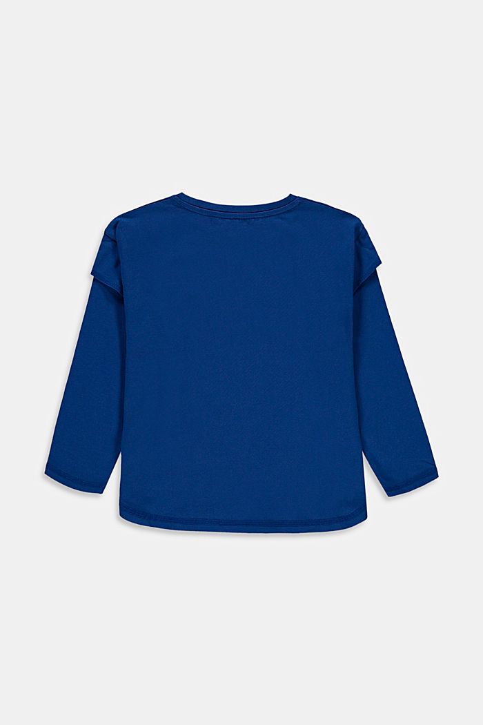 Layered-effect long sleeve top with a print, INK, detail image number 1