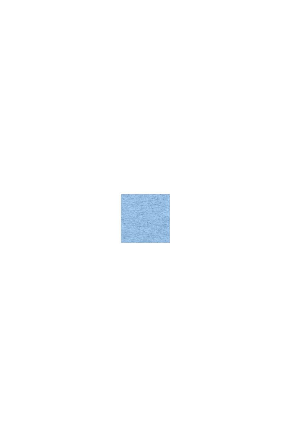 Återvunnet material: långärmad topp med rysch, BRIGHT BLUE, swatch