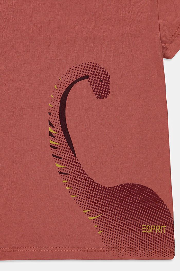 Cotton T-shirt with print, DARK MAUVE, detail image number 2