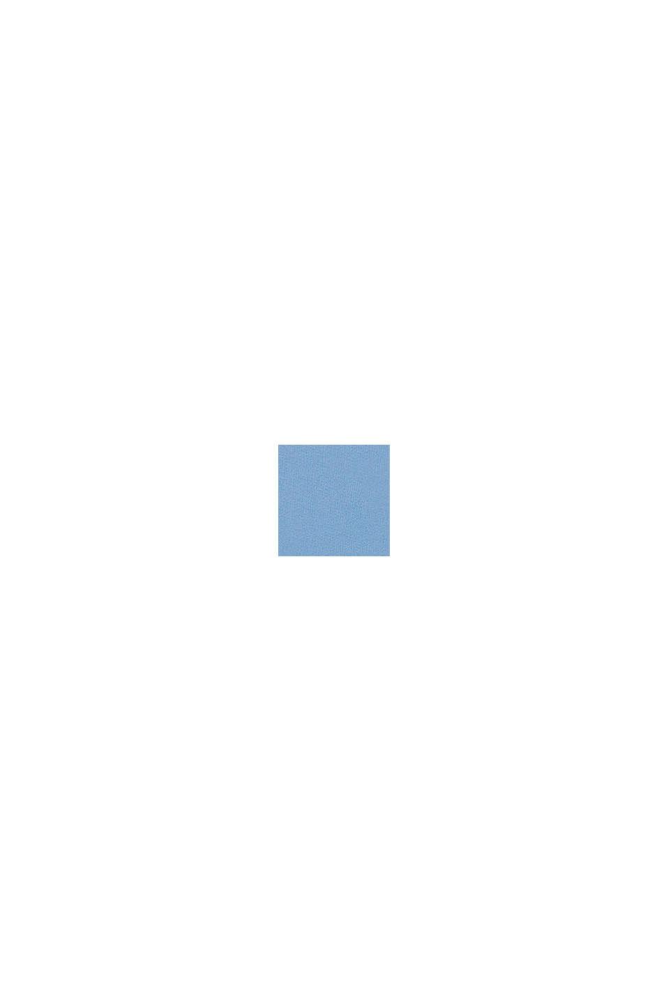 Felpa con cappuccio e stampa del logo luccicante, 100% cotone, BRIGHT BLUE, swatch