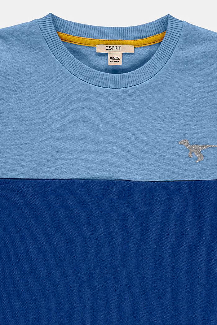 Bluza w kolorowe pasy z błyszczącym nadrukiem, BRIGHT BLUE, detail image number 2