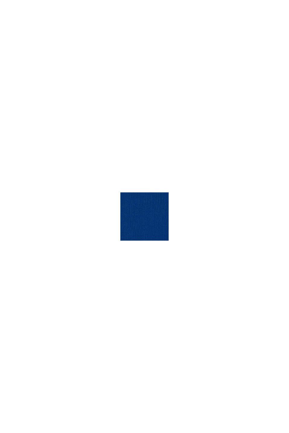 Felpa a blocchi di colore con stampa glitterata, BRIGHT BLUE, swatch