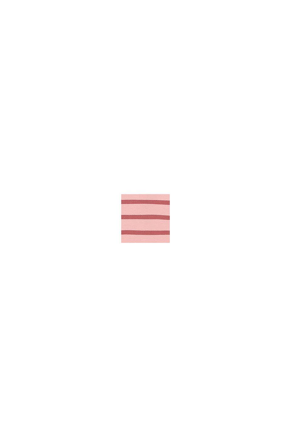 Huvtröja med ränder i bomull, PASTEL PINK, swatch