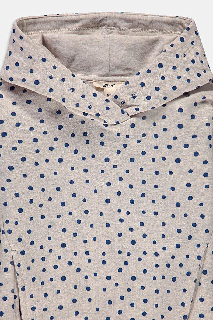 Sweat à capuche imprimé en coton, SILVER, detail image number 2