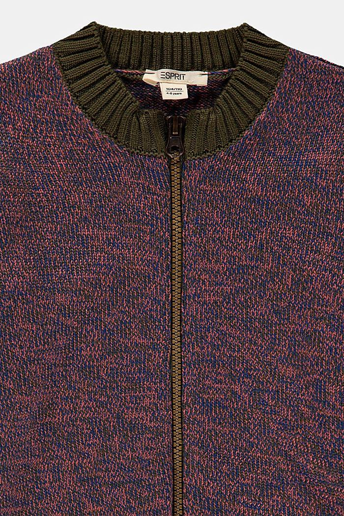 Vest van katoenmix, KHAKI GREEN, detail image number 2