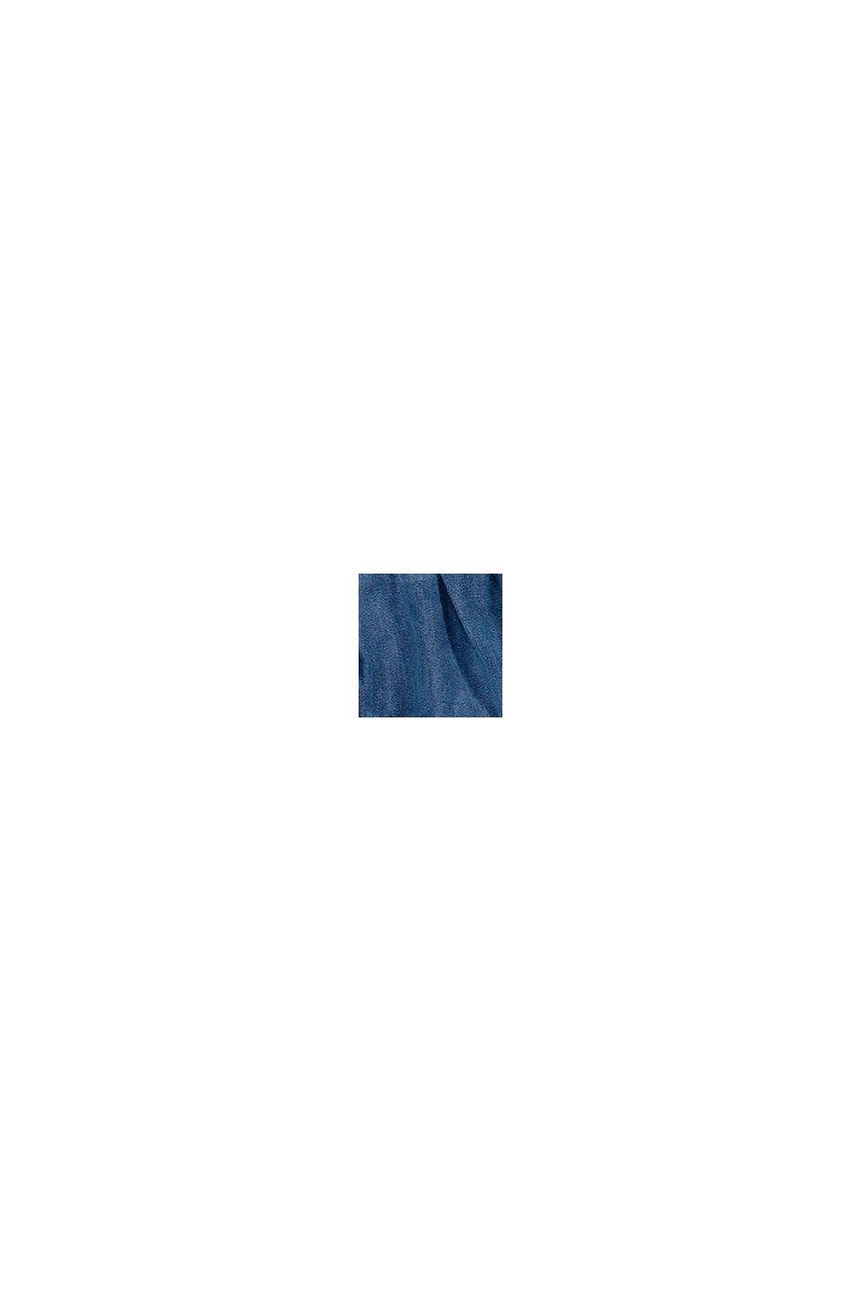S lyocellem: sukně se vzhledem džínoviny a s volánem, BLUE MEDIUM WASHED, swatch