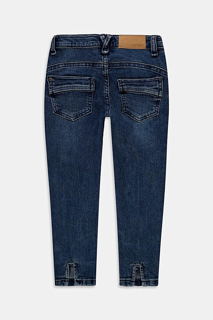 Återvunnet material: jeans med sprund och reglerbar linning
