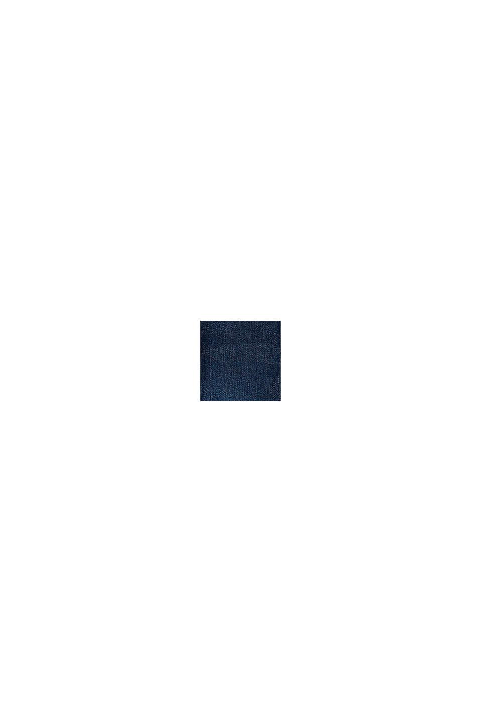 Återvunnet material: jeans med sprund och reglerbar linning, BLUE DARK WASHED, swatch