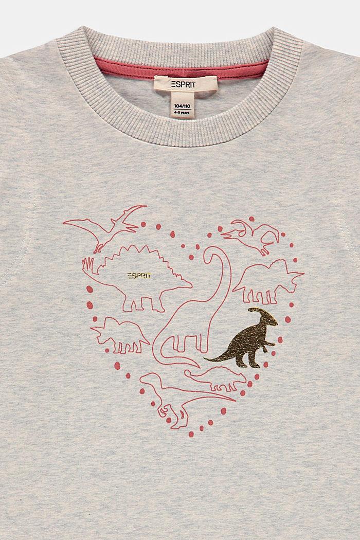 Jerseyleid mit Print aus Baumwolle, SILVER, detail image number 2