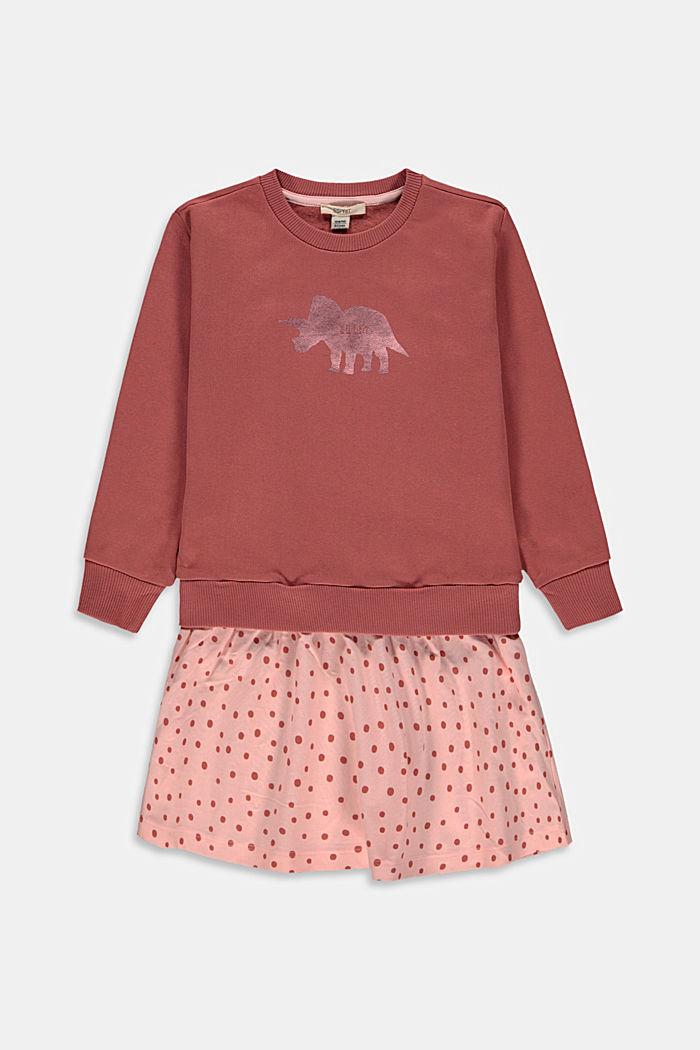 Sweatshirt dress with print in cotton
