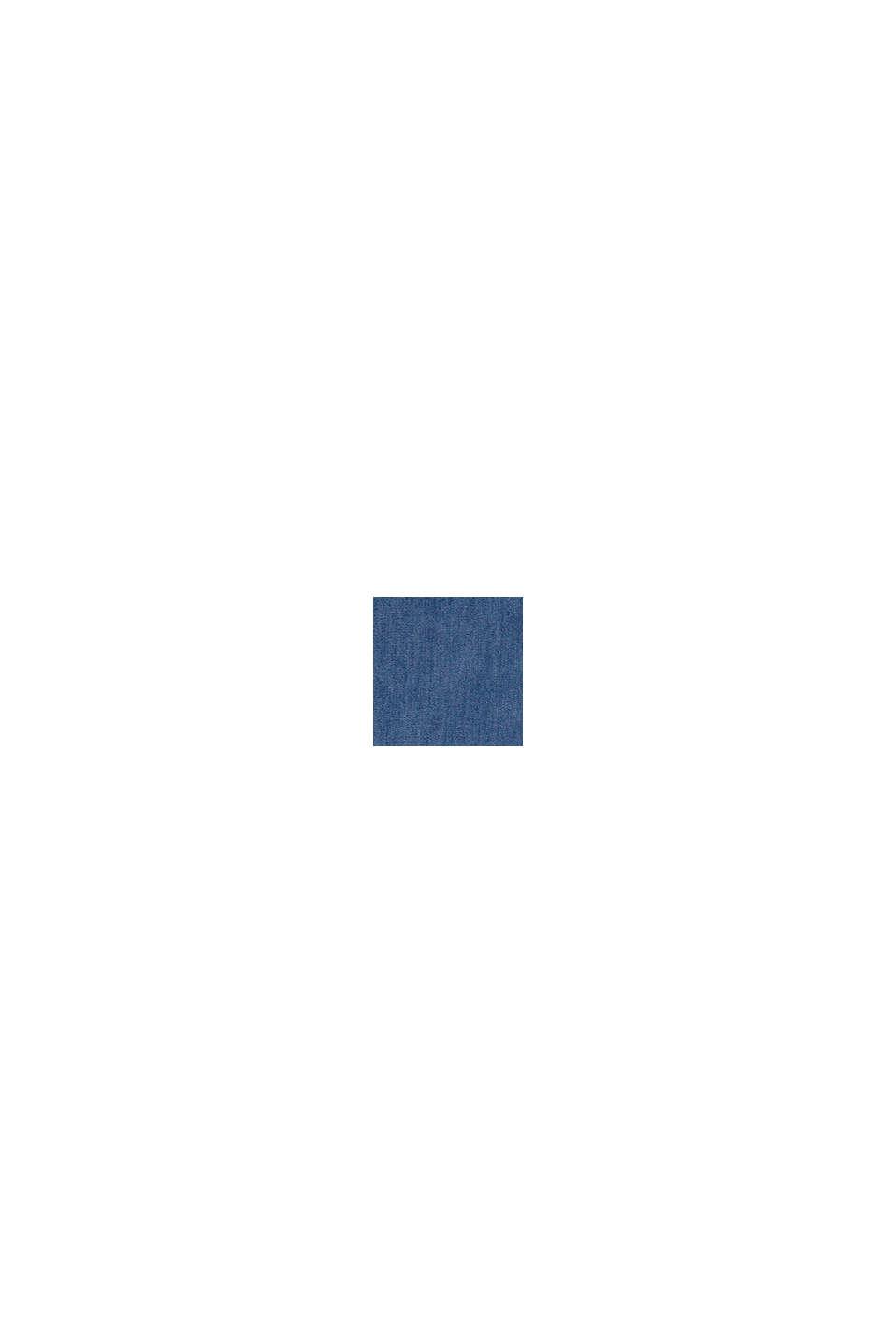 Met lyocell: jurk met volant en een denim look, BLUE MEDIUM WASHED, swatch