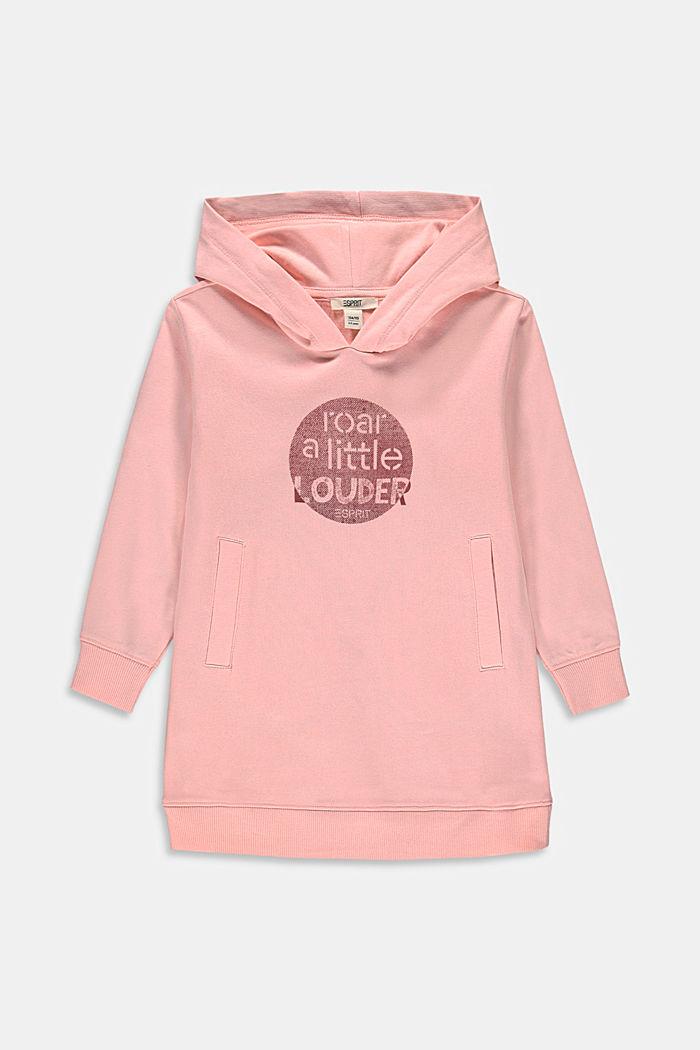 Cotton sweatshirt dress with a print