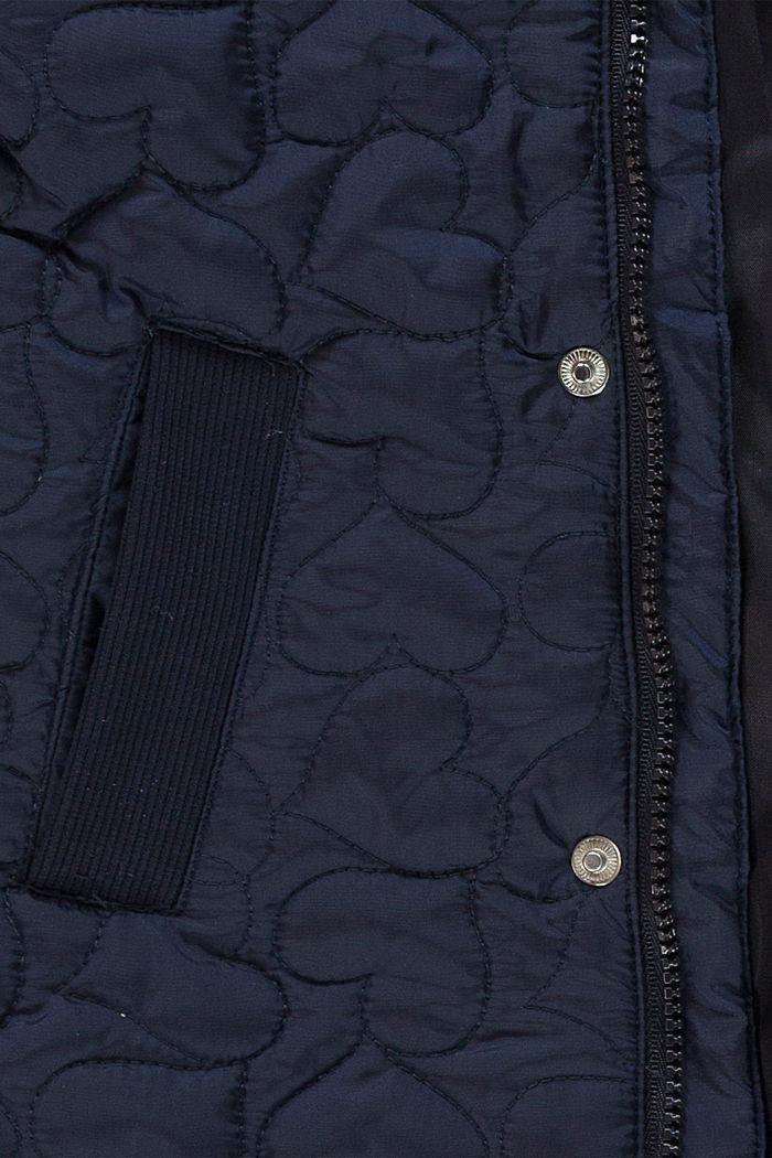 Veste matelassée à capuche et détails réfléchissants, NAVY, detail image number 2
