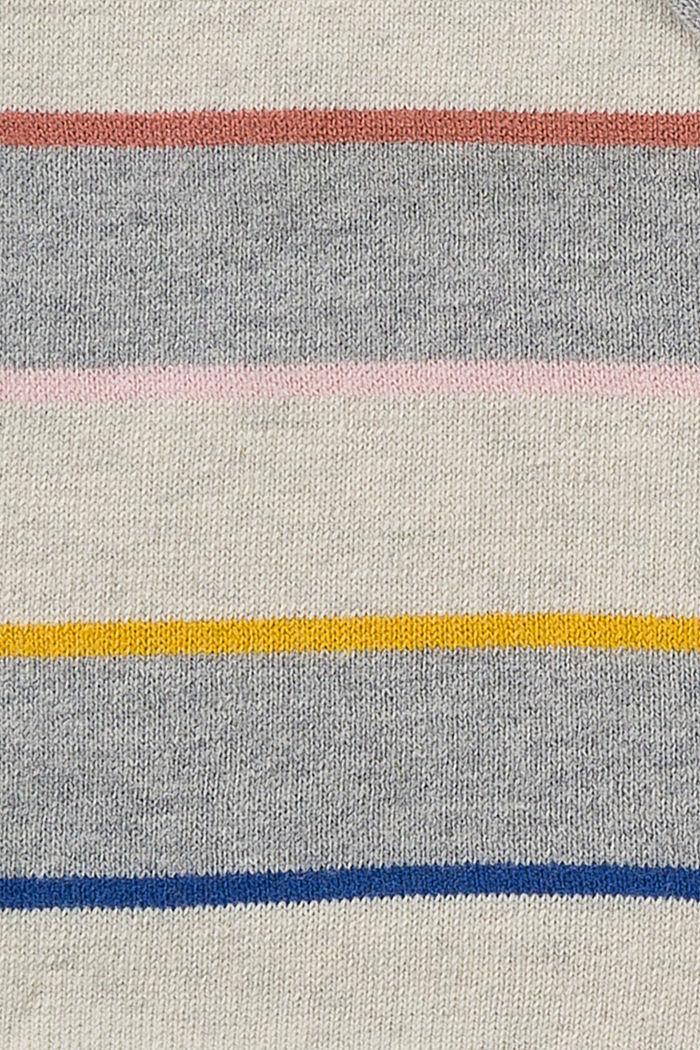 Gebreide muts met fleece van een katoenmix, SILVER, detail image number 1