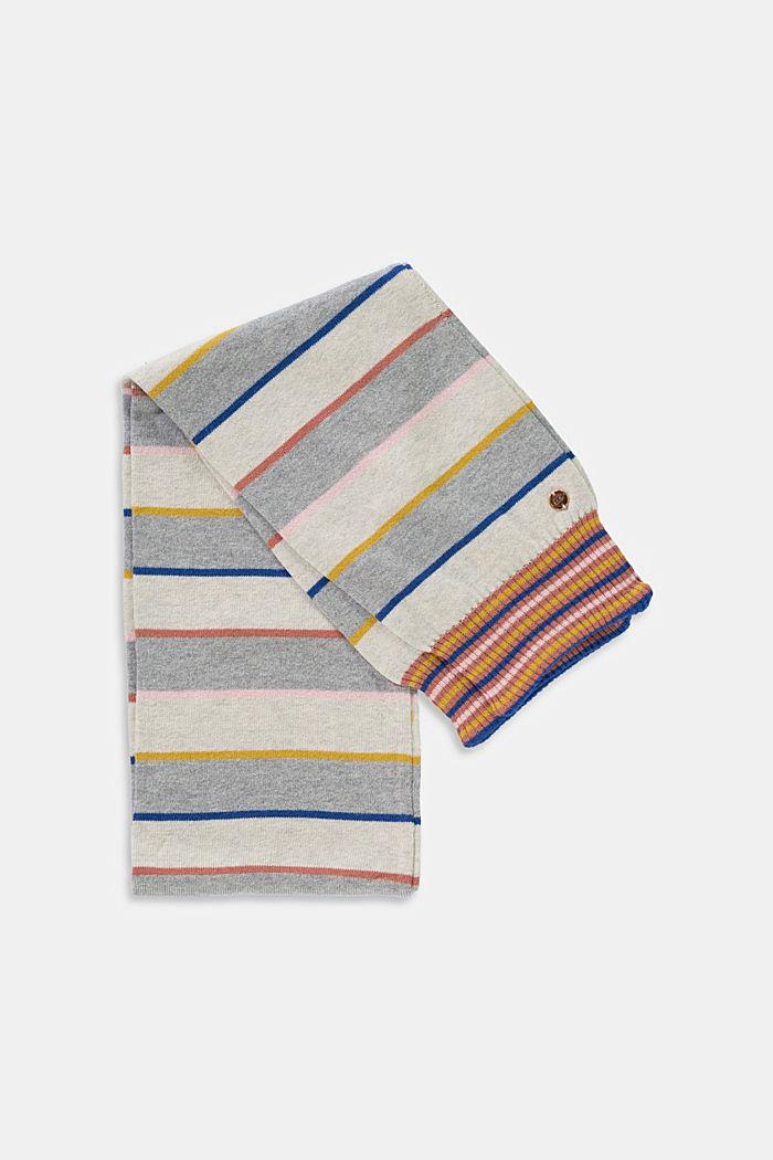 Écharpe en maille rayée en coton mélangé