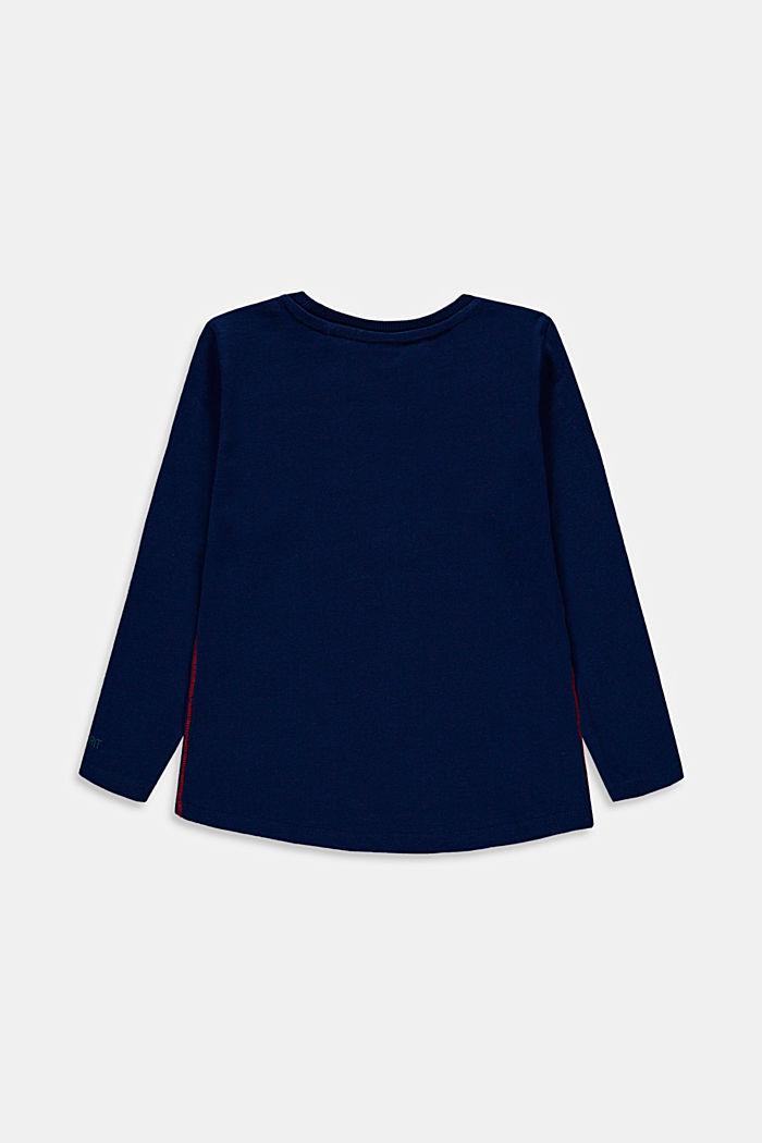 Camiseta de manga larga con estampado, 100% algodón, BLUE, detail image number 1