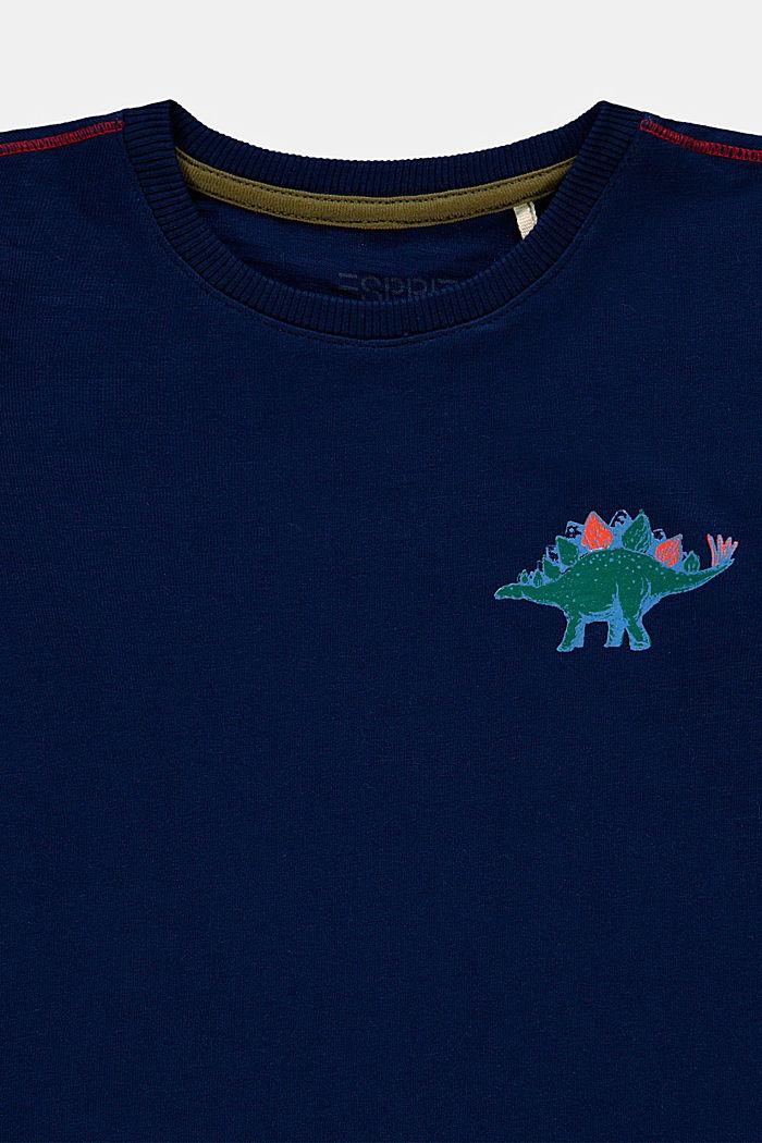 Camiseta de manga larga con estampado, 100% algodón, BLUE, detail image number 2