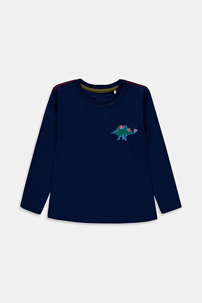 Camiseta de manga larga con estampado, 100% algodón, BLUE, detail image number 0