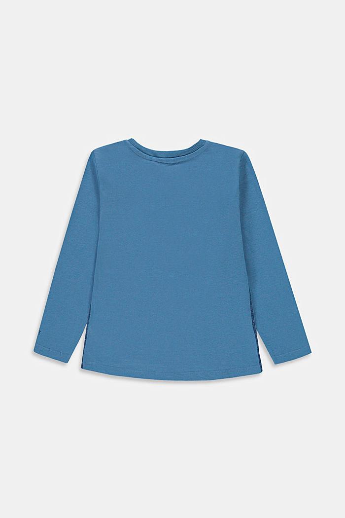 Maglia a maniche lunghe con stampa in 100% cotone, LIGHT BLUE, detail image number 1