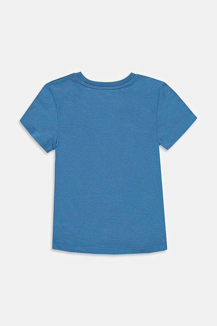 T-shirt met print, van 100% katoen, LIGHT BLUE, detail image number 1
