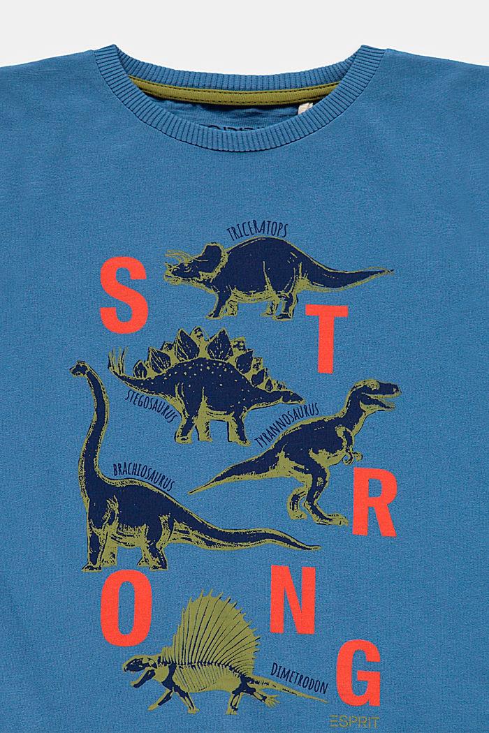 T-shirt met print, van 100% katoen, LIGHT BLUE, detail image number 2