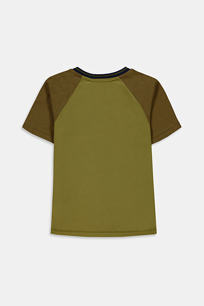 T-shirt with embroidery made of 100% cotton, LEAF GREEN, detail image number 1