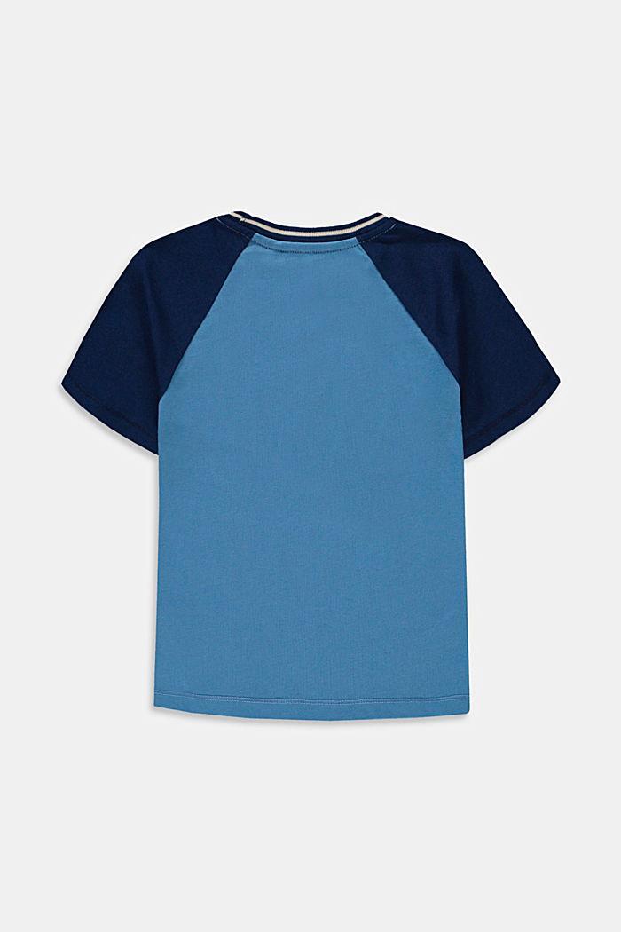 T-shirt orné d'une broderie en 100% coton, LIGHT BLUE, detail image number 1