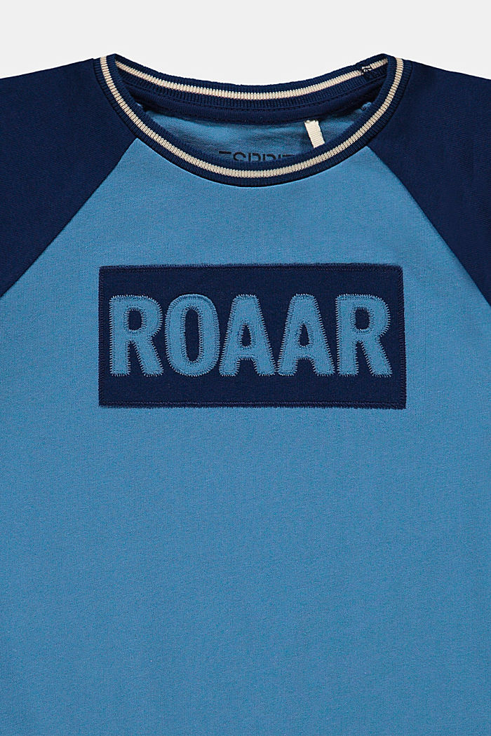 T-shirt orné d'une broderie en 100% coton, LIGHT BLUE, detail image number 2