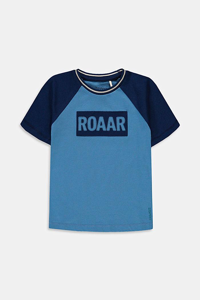 T-shirt orné d'une broderie en 100% coton, LIGHT BLUE, detail image number 0