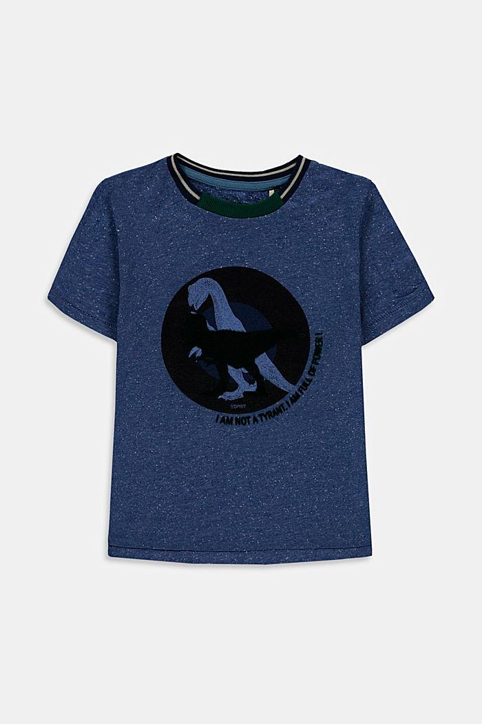 T-shirt z nadrukiem, 100% bawełny, BLUE, detail image number 0