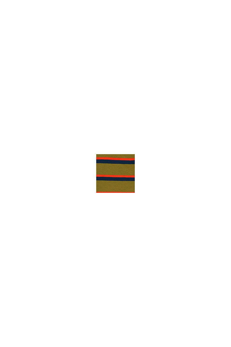 Striped T-shirt in 100% cotton, KIWI, swatch
