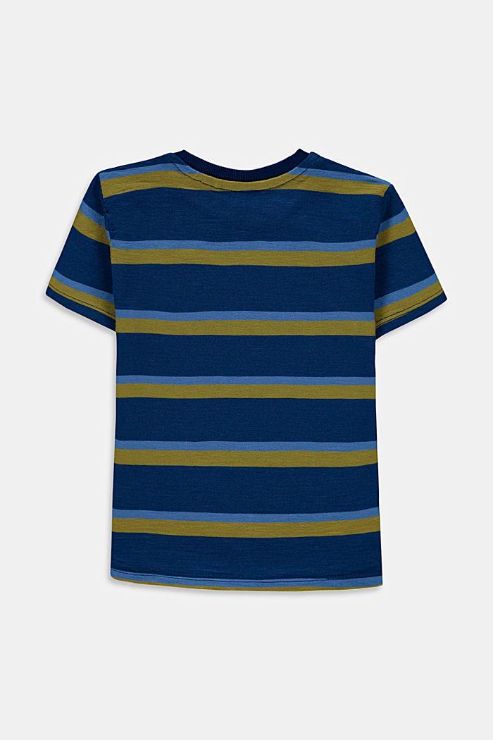 Streifen-T-Shirt aus 100% Baumwolle, BLUE, detail image number 1