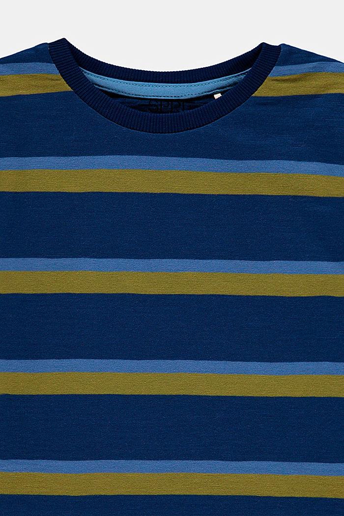 Streifen-T-Shirt aus 100% Baumwolle, BLUE, detail image number 2