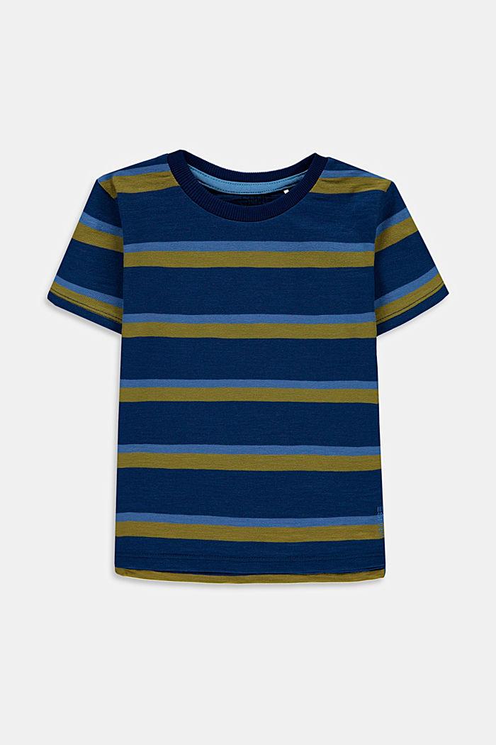 Streifen-T-Shirt aus 100% Baumwolle, BLUE, detail image number 0