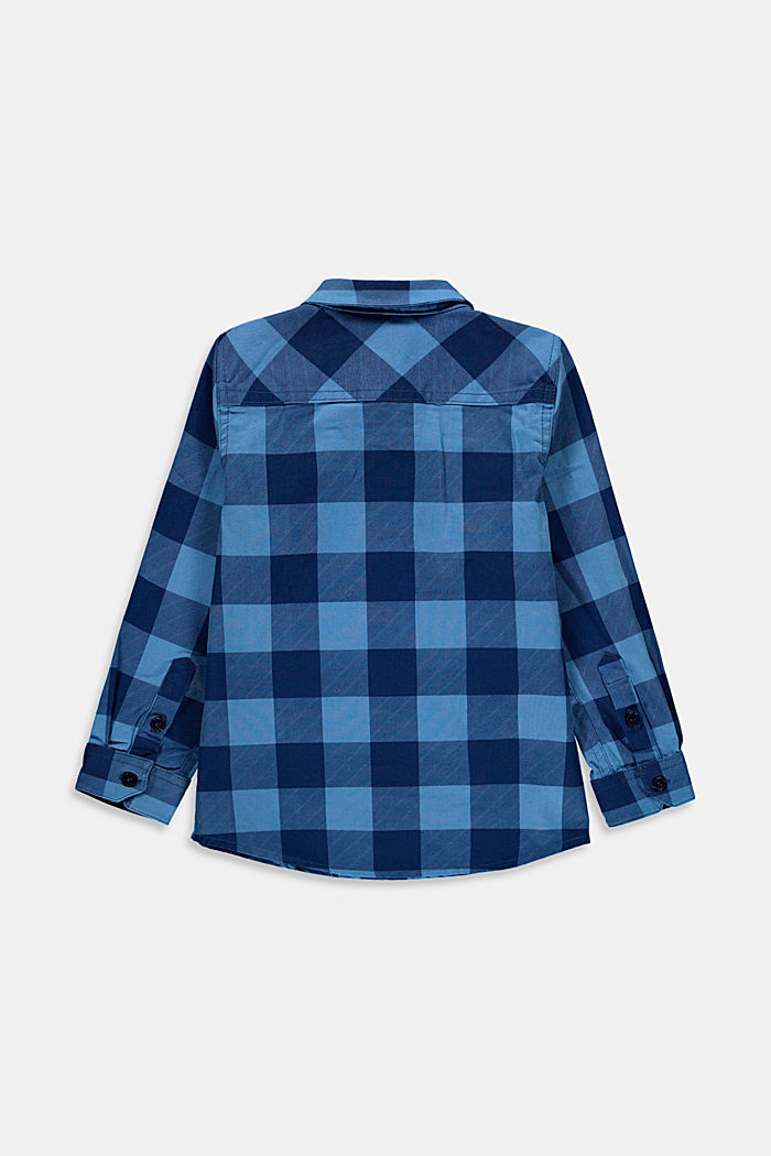 Rutig skjorta med bröstfickor, 100% bomull