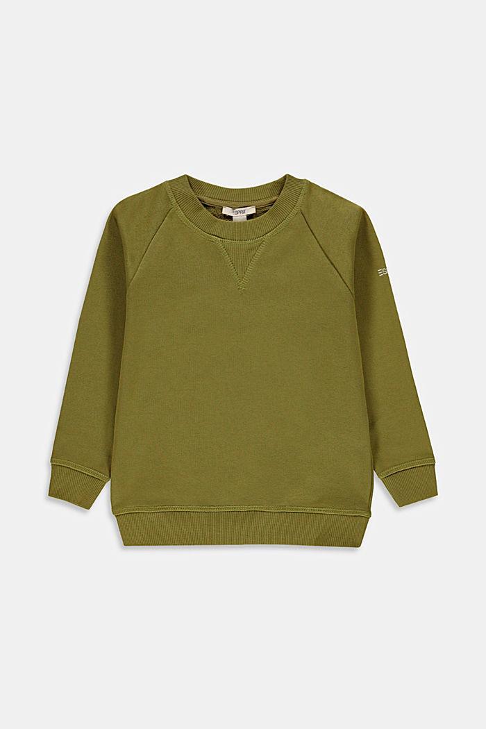 Basic sweatshirt van 100% katoen