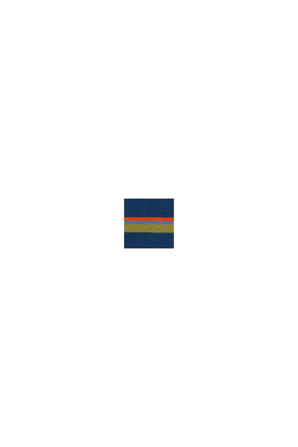 Pull-over rayé coloré, 100 % coton, BLUE, swatch