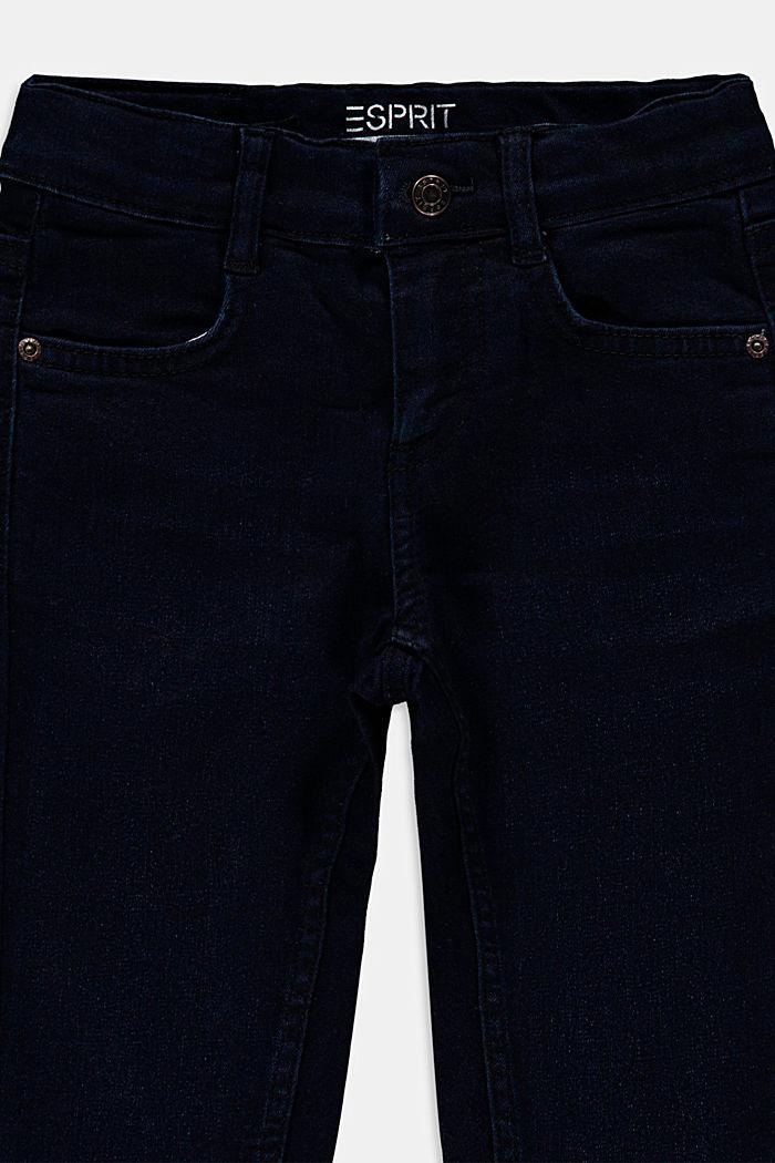 Stretch jeans in blended cotton, BLUE DARK WASHED, detail image number 2