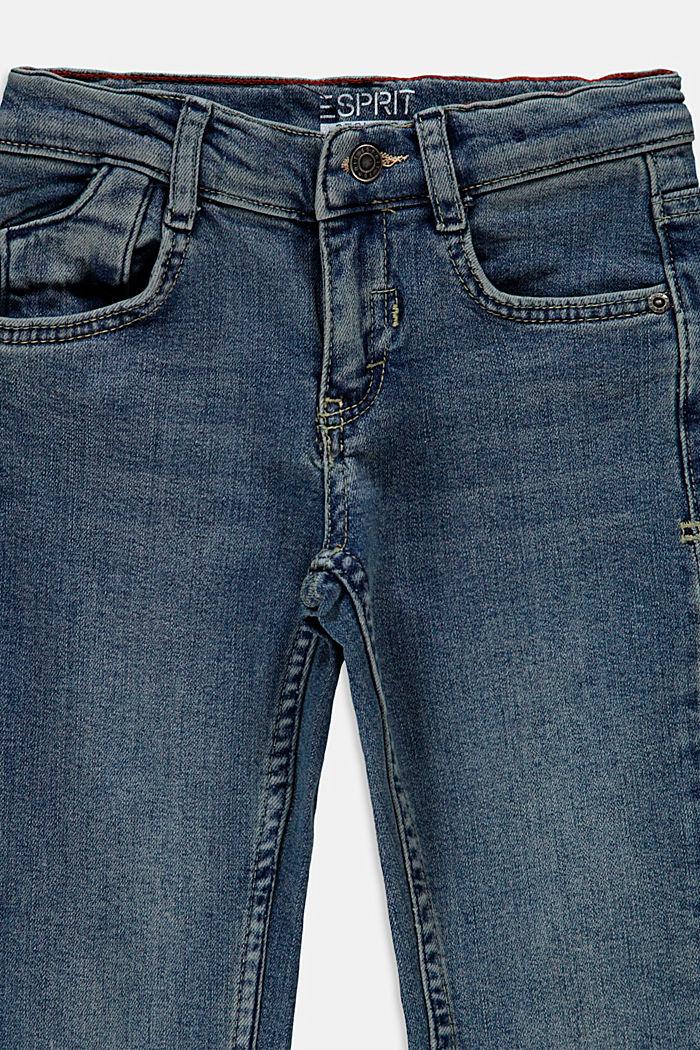 Recycelt: Stretch-Jeans mit Verstellbund, BLUE MEDIUM WASHED, detail image number 2