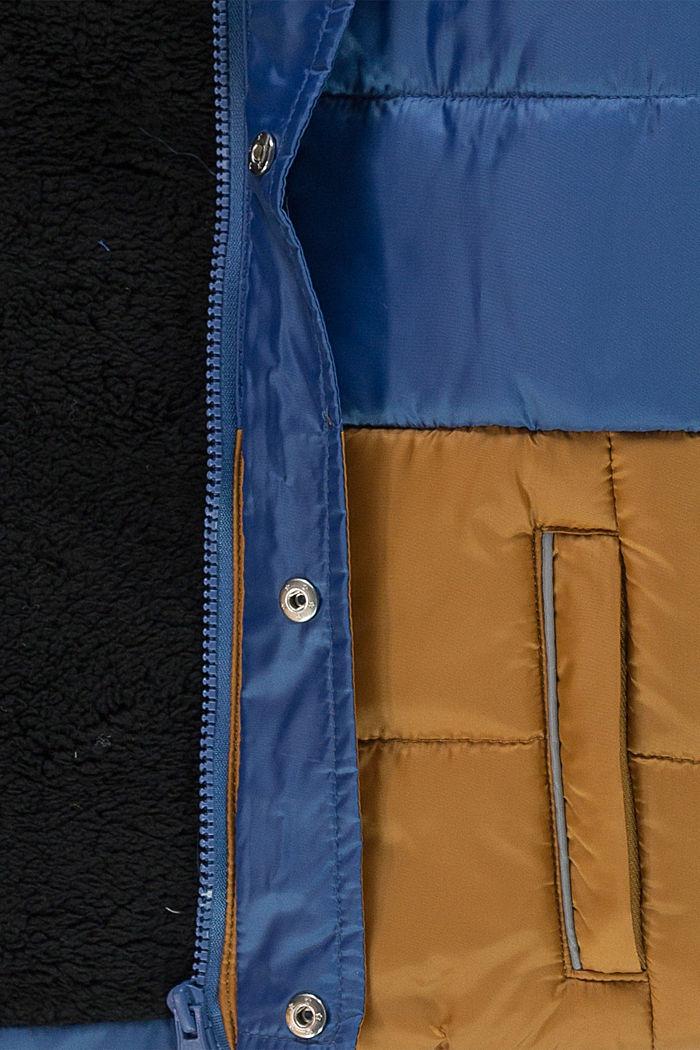 Steppjacke mit Teddyfutter und Kapuze, BLUE, detail image number 2