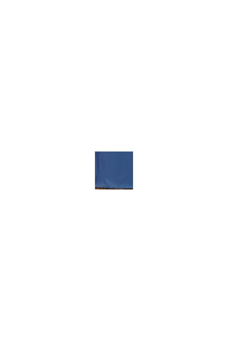 Quiltad jacka med teddyfoder och huva, BLUE, swatch