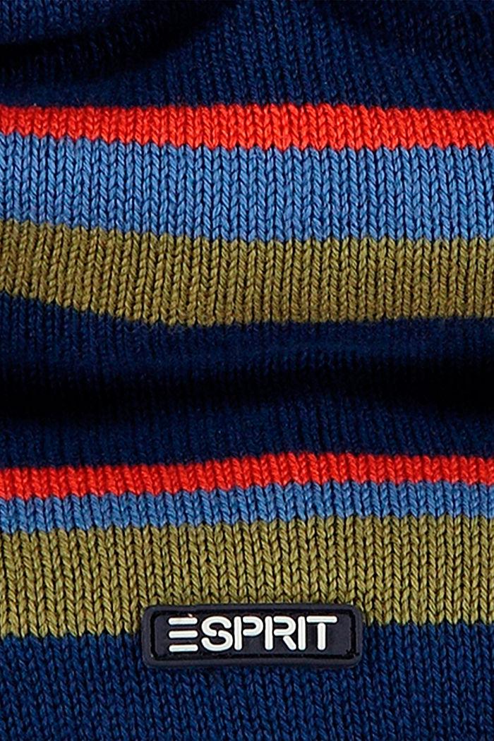 Sciarpa circolare in cotone con pile, BLUE, detail image number 1