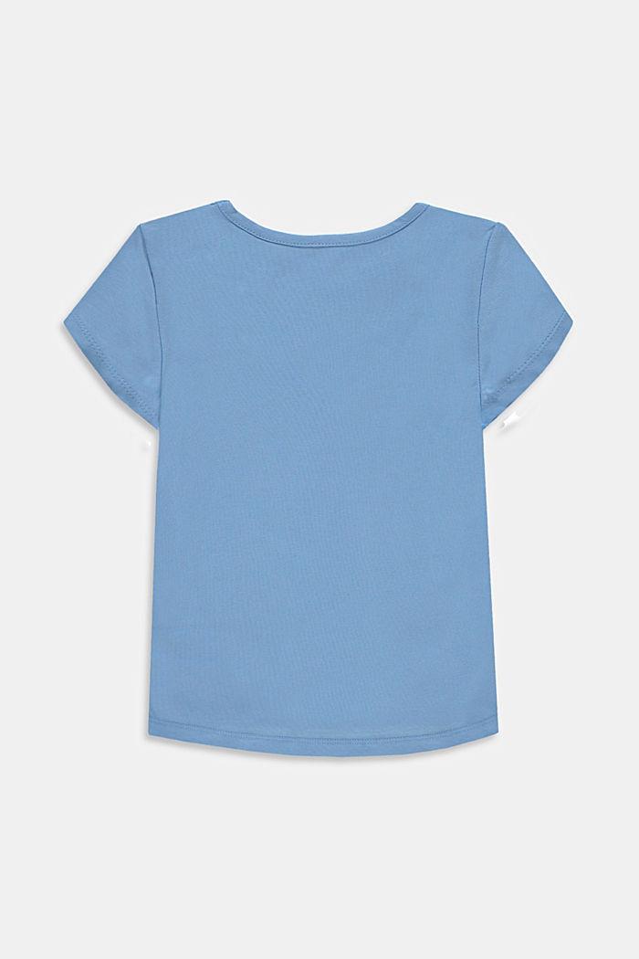 T-shirt en coton à logo métallique