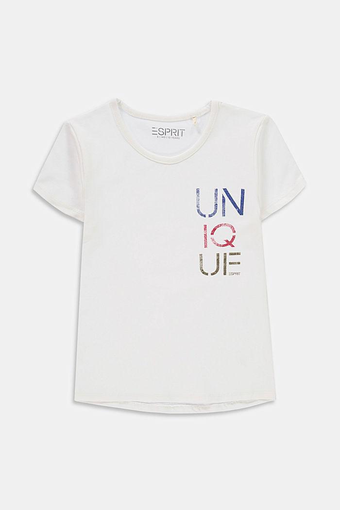 T-shirt med texttryck i bomull