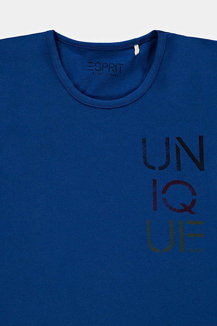Cotton T-shirt with printed lettering, INK, detail image number 2