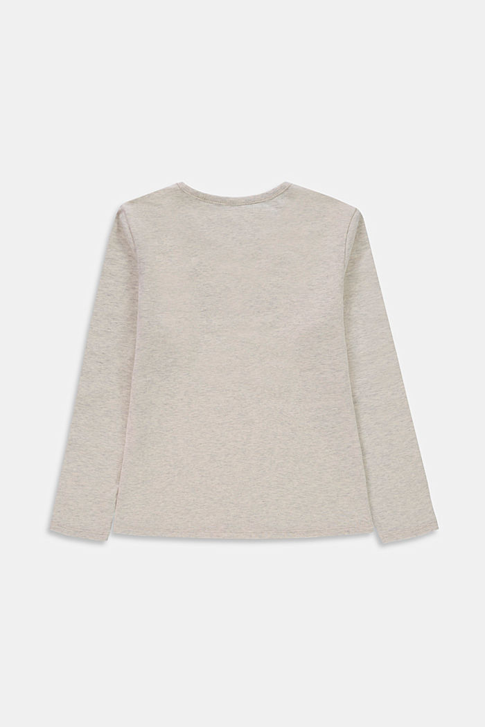 Longsleeve mit Print, 100% Baumwolle, DUSTY NUDE, detail image number 1
